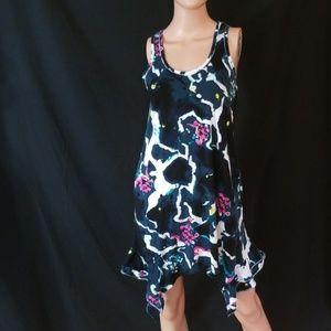 DKNY💟Ruffle Sides Pocket Tank Mini Dress